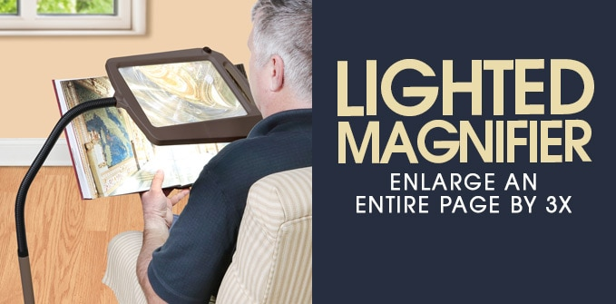 Lighted Floor Standing Magnifier