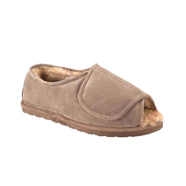 2107cd2d3c25 Old Friend® Sheepskin Velcro® Womens Slippers