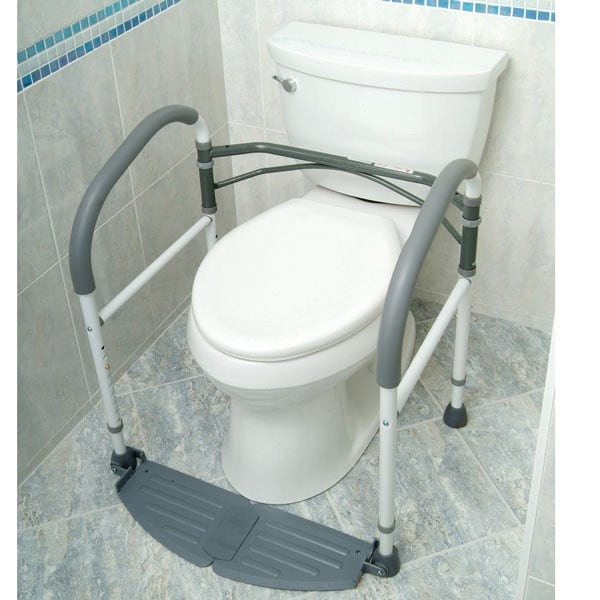 foldeasy toilet safety frame removes easily