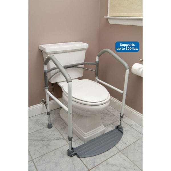 Foldeasy Toilet Safety Frame Removes Easily at Support Plus | FB3532