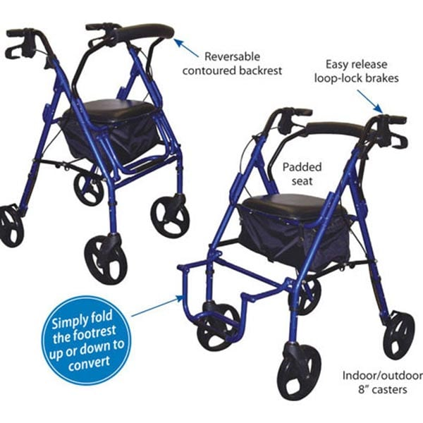 Duet Transport/Rollator Chair