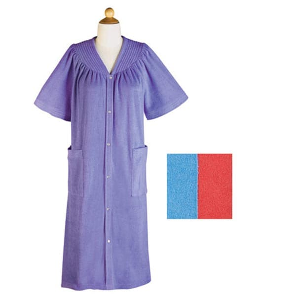 METROPOLITAN MANUFACTURING SNAP FRONT TERRY ROBE at Sears.com