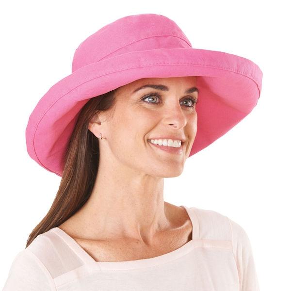 920930b8a UPF 50+ Packable Large Brim Cotton Sun Hat