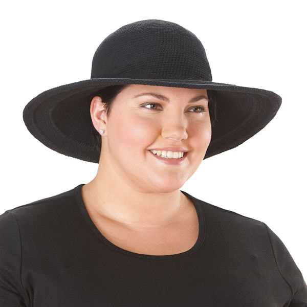 UPF 50+ Packable Wide Brim Crochet Sun Hat  a4fa70ad65d