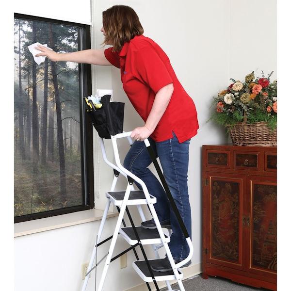 Marvelous 4 Step Safety Ladder With Padded Handrails Inzonedesignstudio Interior Chair Design Inzonedesignstudiocom
