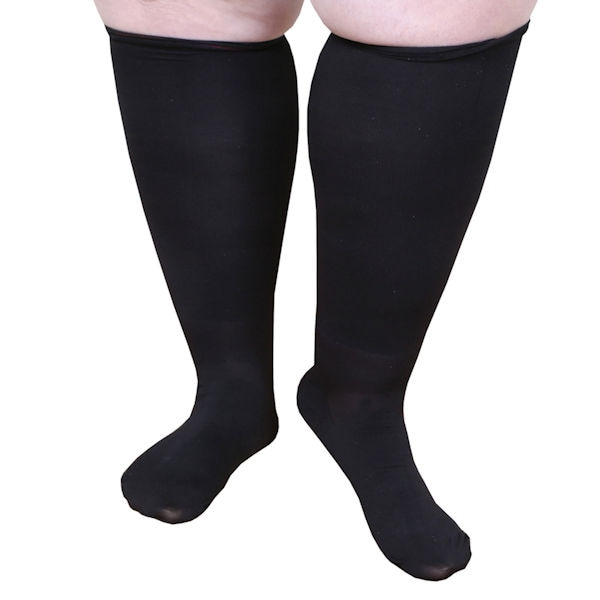 70e0521223f Extra Wide Moderate Compression Knee Highs