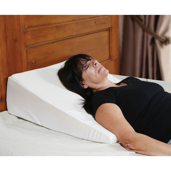 Support Plus Bed Wedge Pillow - Memory Foam Cushion   Cover - Small - 8