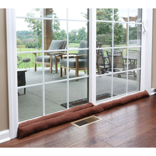 Home District Exclusive Sliding Door Draft Dodger Weighted Patio Breeze Guard 71 5 Long Support Plus Ta4876