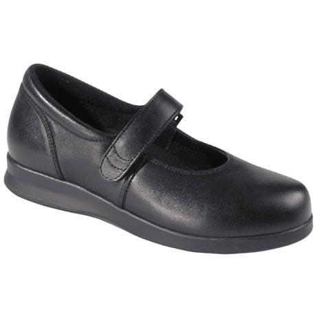 Drew® Bloom Mary Jane - Black Leather