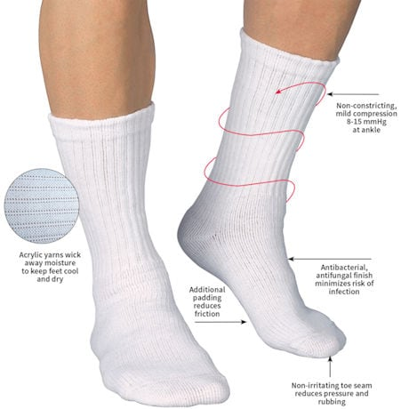 Jobst® Sensifoot Unisex Mild Compression Crew Socks