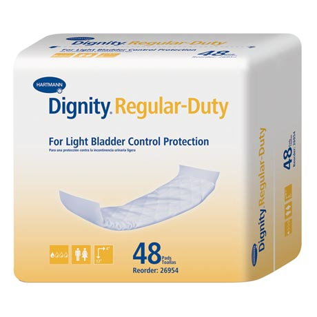 Dignity® Regular Duty Disposable Non-Adhesive Pads (8 Bags - 384 Total)