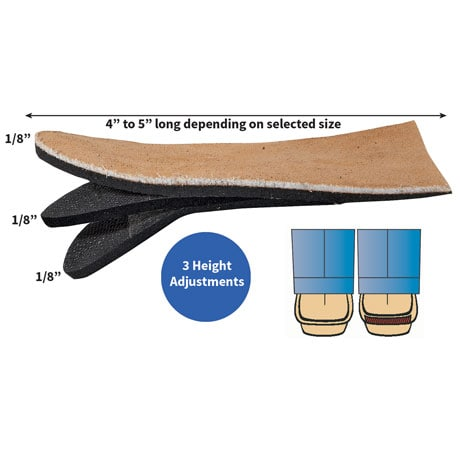 Pedifix® Adjustable Heel Lift Shoe Insert