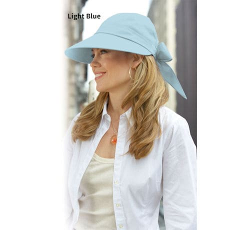 Wide Brim Sun Hat for Women Provides UV Protection UPF50