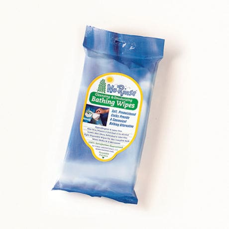 No Rinse Bathing Wipes Cleansing & Deodorizing