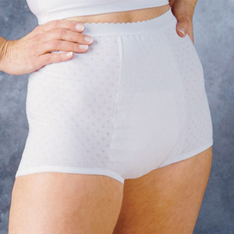 HealthDri Women's Moderate Absorbency Washable Cotton Brief