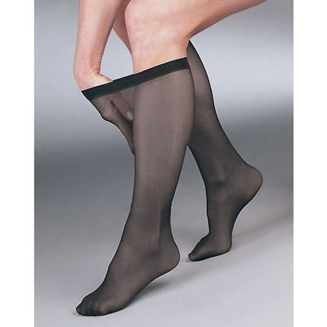 Support Plus® Womens Sheer Closed Toe Firm Compression Knee High Stockings
