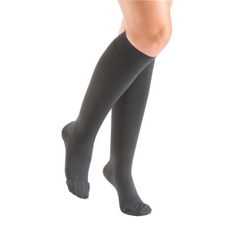 Support Plus® Womens Opaque Closed Toe Firm Compression Knee High Stockings