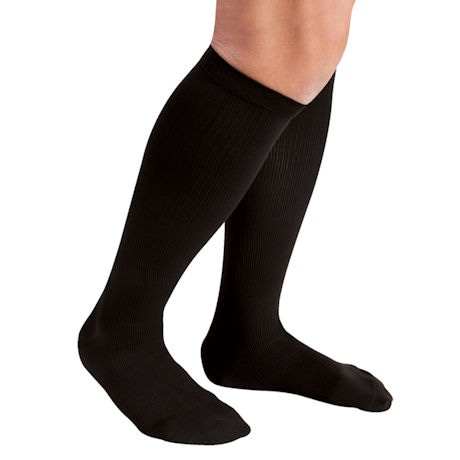 Support Plus®Firm Support Men's Microfiber Pinstripe Dress Sock