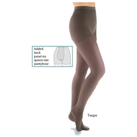 Support Plus™ Sheer Queen Plus Sizes Pantyhose Moderate Compression 15-20 mmHg