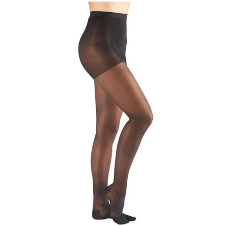 Support Plus® Womens Sheer Closed Toe Moderate Compression Pantyhose