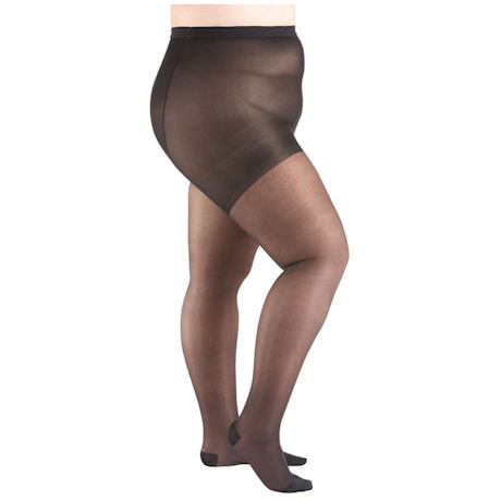 Support Plus® Women's Sheer Queen Plus Closed Toe Moderate Compression Pantyhose