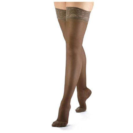 Support Plus® Sheer Firm Compression Thigh High Stockings - 20-30 mm/Hg