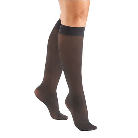 Support Plus® Womens Sheer Closed Toe Mild Compression Knee High Stockings