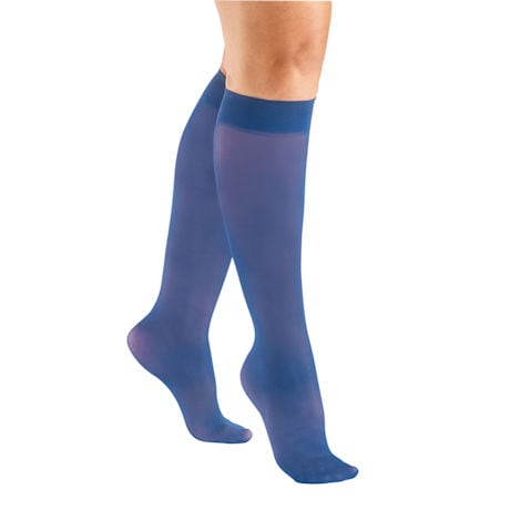 Support Plus® Women's Sheer Closed Toe Mild Compression Knee High Stockings