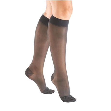 Support Plus® Womens Sheer Closed Toe Moderate Compression Knee High Stockings