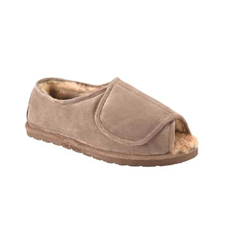 Old Friend® Sheepskin Velcro® Womens Slippers