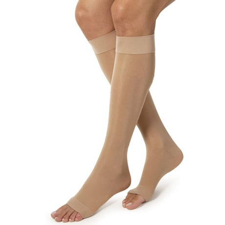 Jobst® Women's Ultrasheer Open Toe Very Firm Compression Knee High Stockings