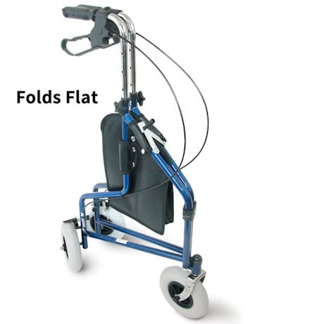 Deluxe 3 Wheel Rollator Walker With Basket Pouch