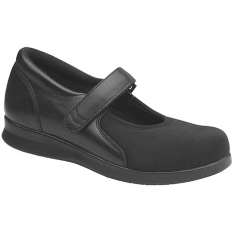 Drew® Bloom Mary Jane - Black/Black Stretch