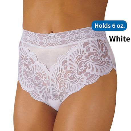 Womens Lace Incontinence Panty