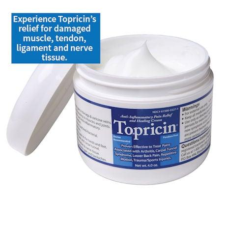 Topricin Anti-Inflammatory Healing Cream 4oz jar