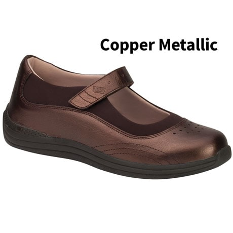 Drew®Rose Copper Metallic Mary Jane