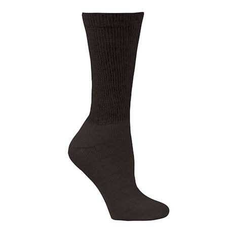 Unisex Wide Calf Diabetic Crew Socks - 3 pack