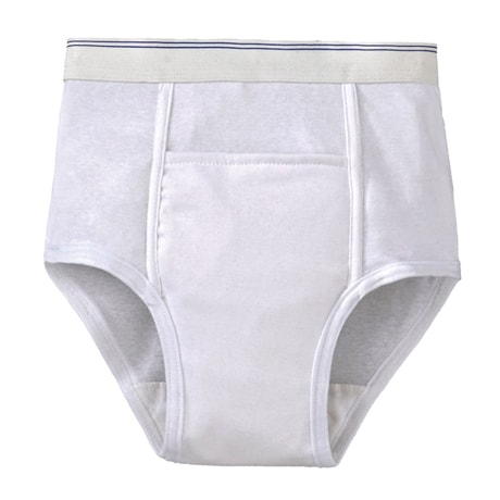 Men's Washable Incontinence Underwear - Cotton Brief