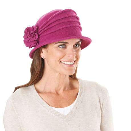 100% Wool Packable Cloche Hat