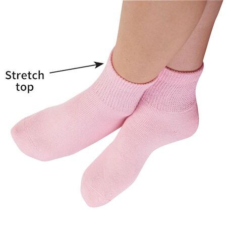 Women's Diabetic Quarter Crew Socks - 2 pack
