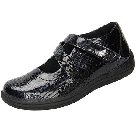 Drew® Orchid Shoes - Black Print
