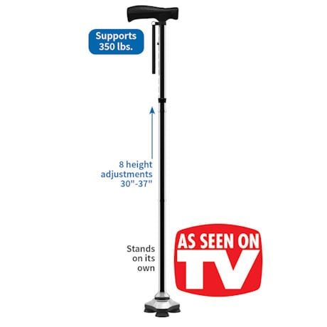 HurryCane® Freedom Edition All-Terrain Cane - Black