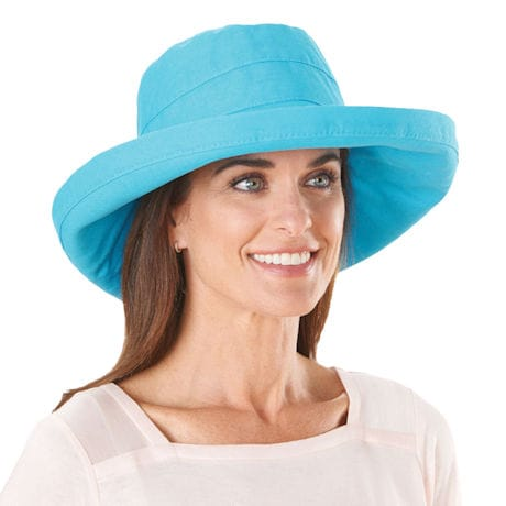UPF 50+ Packable Large Brim Cotton Sun Hat