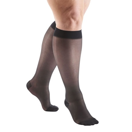 Support Plus® Sheer Moderate Compression Wide Calf Knee High Stockings