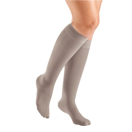 Support Plus® Women's Sheer Closed Toe Wide Calf Firm Compression Knee High Stockings