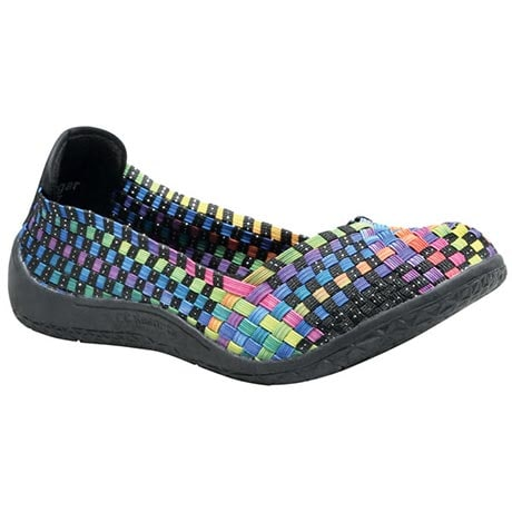 Woven Stretch Slip-On Shoes