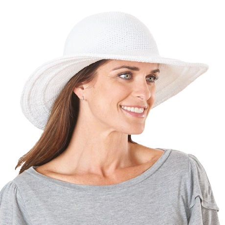 UPF 50+ Packable Wide Brim Crochet Sun Hat
