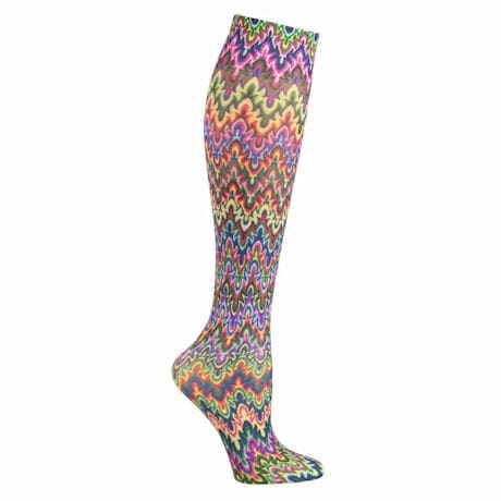 Celeste Stein® Women's Printed Closed Toe Compression Knee High Stockings