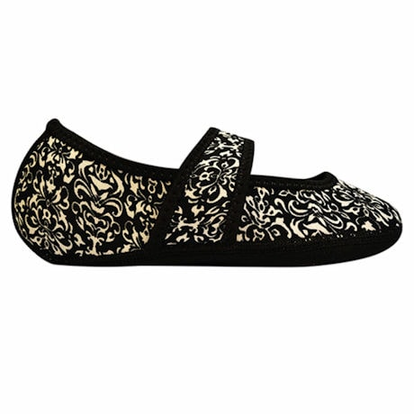 NuFoot Mary Jane Indoor Slippers Stretch with Non Slip Soles