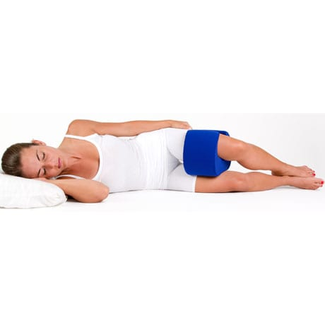 Stay-Put Knee Pillow Wrap Around Therapeutic Sleep Support Helps Relieve Knee, Hip, & Spine Pain
